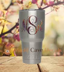 Rose Gold Holographic Sequins Monogram Decal Laptop Phone Tablet Tumbler