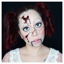 broken porcelain doll halloween makeup