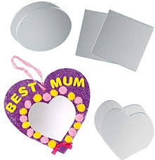 baker ross shaped acrylic mirrors for
