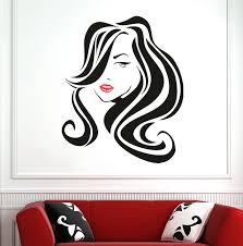 Large Hair Beauty Salon Lips Wall Decal Hairdresser Hairstyle Hair Hairdo Barbers Lady Wall Window Sticker Vinyl Shop Decor Wl53 Wall Stickers Aliexpress