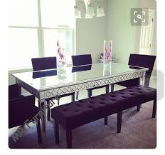 sophia silver glass dining table 160
