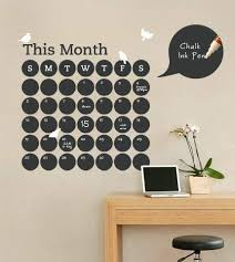 Amazon Com Chalkboard Daily Dot Calendar Wall Decal Daily Planner Office Products