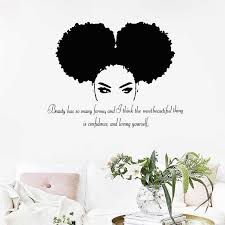 Tribal African Woman Quote Wall Art Decal Beautiful Afro Girl Vinyl Wall Art Sticker Home Woman Bedroom Mural Art Decal Decor Wall Stickers Aliexpress