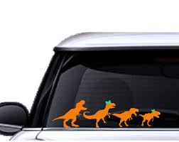 Dinosaur Car Decal Etsy