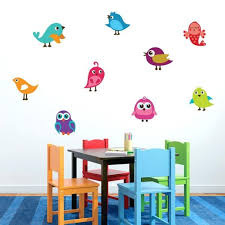 Cute Birds Printed Wall Decal Set Animals Birds Kids Nursery Wall Stickers Ebay