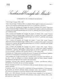 Coronavirus: il testo definitivo del decreto per il contenimento ...