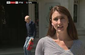 Brilliant moment pedestrian tries to stay out of live TV shot … and the  results are comedy gold