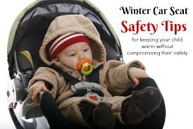 baby warm in a car seat this winter