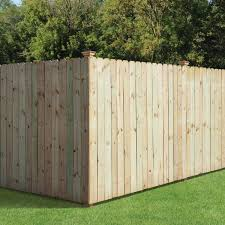 Outdoor Essentials 5 8 In X 6 In X 6 Ft Pressure Treated Pine Dog Ear Fence Picket 6 Pack 371880 The Home Depot