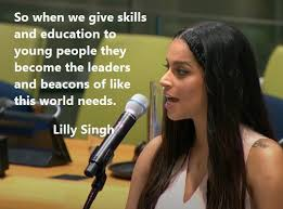 lilly singh addresses world leaders at the united nations
