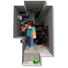 Buy Minecraft 3d Wall Decal Sticker From Wall Decor Digging Kids Room Art Picture By Fenam On Opensky