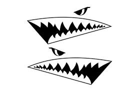 Shark Jaws Car Decal Shark S Eyes And Teeth Car Mural For Window Decoration Removable Art Vinyl Stickers Fa200 Aliexpress