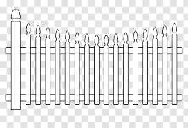 Fence Coloring Book Gate Drawing Color Transparent Png