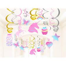 Arco Iris Unicornio Tema Fiesta Decoraciones Helado Tarjetas De