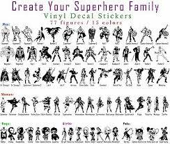 Superhero Decal Vinyl Sticker Car Window Wall Family Marvel Dc Universe 2 60 Picclick