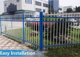 galvanized steel garden fence