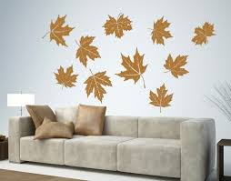 flying leaves wall decal contemporary