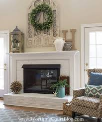 fireplace makeover before and after