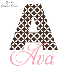 Ava Quatrefoil Pattern Monogram Wall Decal