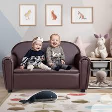 No Costzon Kids Sofa Double Seat Children S Sofa W Under Seat Storage Toddler Furniture Armrest Chair For Bedroom Kids Room La