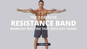 this resistance band workout routine