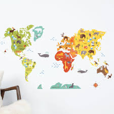 World Map Wall Decal Walldecals Com