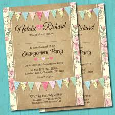Personalised Engagement Party Invitations Envelopes Pastel