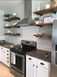 awesome kitchen shelf floating open