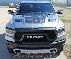 2019 2020 Reb Dodge Ram Rebel Hood Graphics Decals Stripes Vinyl Graphic Kits