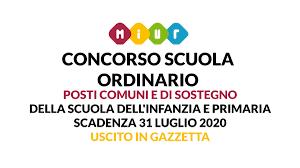 CONCORSO SCUOLA ORDINARIO 2020, USCITO IN GAZZETTA UFFICIALE ...