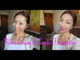 demo milani cream to powder foundation