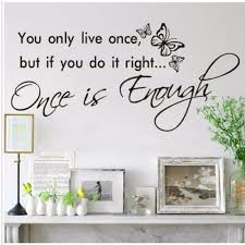 New Size 88x42cm You Only Live Once Wall Art Decal Quote Words Lettering Decor Home Wall Sticker Wall Sticker Home Wall Stickerswall Art Decals Aliexpress