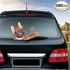Amazon Com Miysneirn Rear Window Wiper Decal Animal French Bulldog Dog Pet Waving Wiper Sticker 3d Funny For Vinyl Bumper Windshield Sticker Waterproof Car Wiper Decal For Rear Wiper Vehicle Tags Decor Brown Automotive