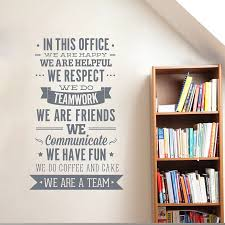 We Respect Teamwork Office Rules Wall Sticker Quote Walling Shop