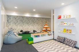 Woodsy Playroom Contemporary Kids New York By Honeyjam Design Co