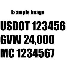 Amazon Com Set Of 2 Custom Design For Usdot Mv Carrier Ca Number Gvw Die Cut Decal Sticker Decal Windows Cars Trucks Boats Cmv S Etc 12 Color Options Arts Crafts Sewing