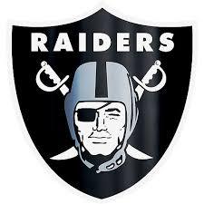 Metallic Las Vegas Raiders Sticker 5 1 2in X 7 3 4in Party City