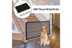 Folding Dog Gate Mesh Dog Fence For Indoor And Outdoor Safe Pet Dog Gate Safety Enclosure Pet Supplies Kogan Com