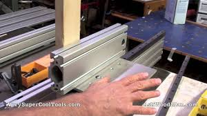 1 Of 2 Tenoning Jig Using Linear Bearings Rail Mounted On Aluminum Extrusions Youtube