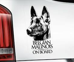 Belgian Malinois Sticker Dog Window Decal Car Stickers Gift Bumper Sign V01blk Ebay