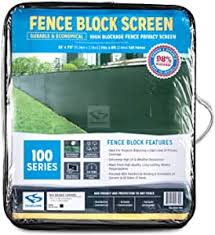 Amazon Com Fencescreen 8ft X 50ft Green Fence Privacy Screen Extreme 98 Blockage Windscreen Mesh Fence Cover Sports Outdoors
