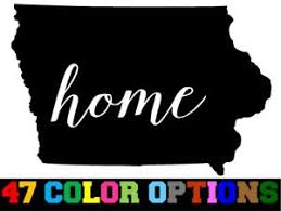 Vinyl Decal Truck Car Sticker Laptop Home State Outline Love Usa Iowa Ebay