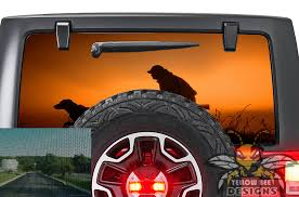 Hunting Wrangler Rear Window Decals Perforated Jl Wrangler