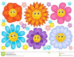 erfly robust guides cartoon flowers