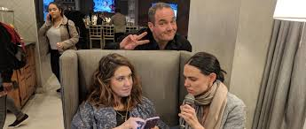 """Katie Halper on Twitter: """"In which Christian Parenti, Marcie Smith & I  share a bottle of wine; chat about Christian's @jacobinmag piece  """"#Impeachment without Class Politics""""; & admit that class enemy Nancy"""