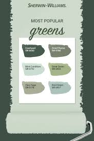 green paint colors sherwin williams