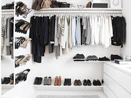 a walk in closet on a budget design