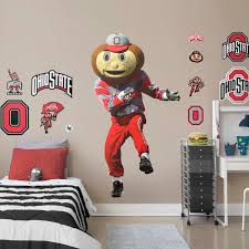 Fan Shop 5 Brutus Osu Ohio State University Buckeyes Removable Wall Decal Sticker Art Ncaa Home Decor 3 1 4 Inches Wide By 6 Inches Tall Sports Outdoors Decor