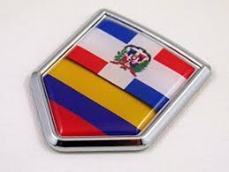 Dominican Republic Colombia Flag Car Chrome Emblem Decal Sticker Car Chrome Decals