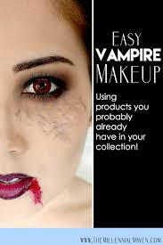 easy halloween vire makeup look